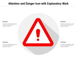 Attention And Danger Icon With Explanatory Mark