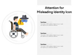 Attention For Misleading Identity Icon