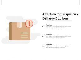 Attention For Suspicious Delivery Box Icon