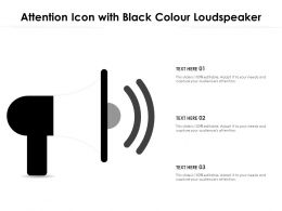 Attention Icon With Black Colour Loudspeaker