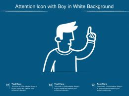 Attention Icon With Boy In White Background