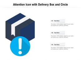 Attention Icon With Delivery Box And Circle