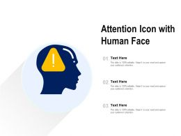 Attention Icon With Human Face