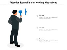 Attention Icon With Man Holding Megaphone