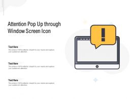 Attention Pop Up Through Window Screen Icon