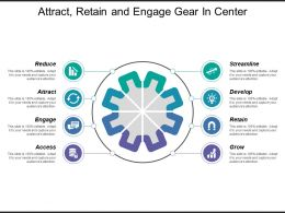 Attract Retain And Engage Gear In Center