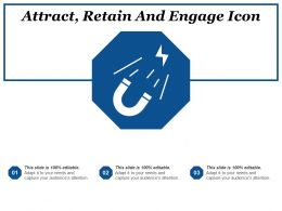 Attract Retain And Engage Icon