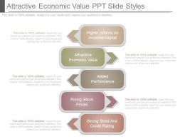 Attractive Economic Value Ppt Slide Styles