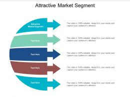 Attractive Market Segment Ppt Powerpoint Presentation File Design Ideas Cpb