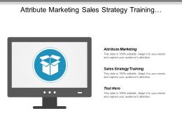 Attribute Marketing Sales Strategy Training Development Strategy Outsourcing Cpb