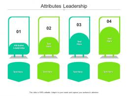 Attributes Leadership Ppt Powerpoint Presentation Pictures Tips Cpb