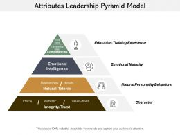 Attributes Leadership Pyramid Model