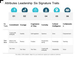 Attributes Leadership Six Signature Traits