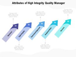 Attributes Of High Integrity Quality Manager