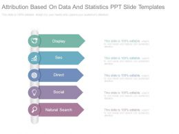 Attribution Based On Data And Statistics Ppt Slide Templates