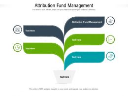 Attribution Fund Management Ppt Powerpoint Presentation Professional Example Cpb
