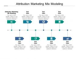 Attribution Marketing Mix Modeling Ppt Powerpoint Presentation Layouts Good Cpb