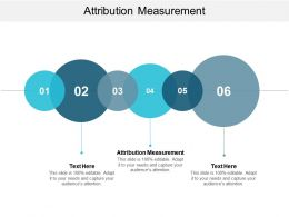 Attribution Measurement Ppt Powerpoint Presentation Model Portfolio Cpb