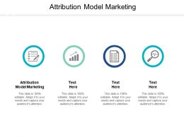 Attribution Model Marketing Ppt Powerpoint Presentation Background Images Cpb
