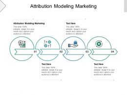 Attribution Modeling Marketing Ppt Powerpoint Presentation Model Sample Cpb