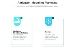 Attribution Modelling Marketing Ppt Powerpoint Presentation Ideas Slide Download Cpb