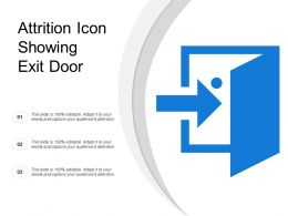 Attrition Icon Showing Exit Door
