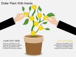 au Dollar Plant With Hands Flat Powerpoint Design