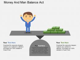 au Money And Man Balance Act Flat Powerpoint Design