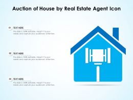 Auction Of House By Real Estate Agent Icon