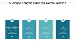 Audience Analysis Business Communication Ppt Powerpoint Presentation Ideas Cpb