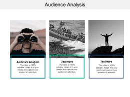 Audience Analysis Ppt Powerpoint Presentation Layouts Display Cpb