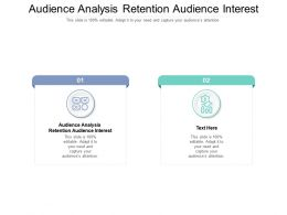Audience Analysis Retention Audience Interest Ppt Powerpoint Presentation Model Infographics Cpb