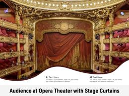 Audience At Opera Theater With Stage Curtains