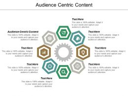 Audience Centric Content Ppt Powerpoint Presentation Icon File Formats Cpb