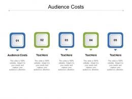 Audience Costs Ppt Powerpoint Presentation Tips Cpb