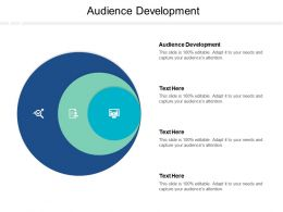 Audience Development Ppt Powerpoint Presentation Styles Cpb