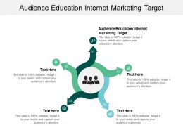 Audience Education Internet Marketing Target Ppt Powerpoint Presentation Infographics Cpb