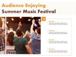 Audience Enjoying Summer Music Festival