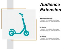 Audience Extension Ppt Powerpoint Presentation Gallery Graphics Example Cpb