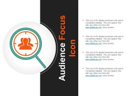 Audience Focus Icon Example Of Ppt