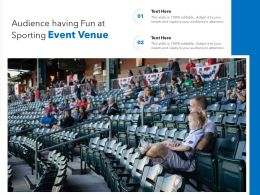 Audience Having Fun At Sporting Event Venue