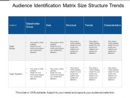 Audience Identification Matrix Size Structure Trends