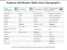 audience_identification_matrix_socio_demographic_geographic_psychographic_Slide01