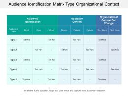Audience Identification Matrix Type Organizational Context