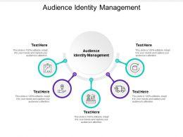 Audience Identity Management Ppt Powerpoint Presentation Portfolio Brochure Cpb