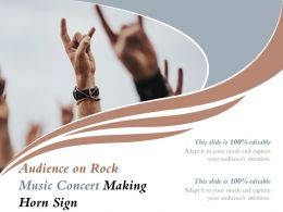 Audience On Rock Music Concert Making Horn Sign