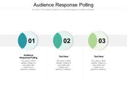Audience Response Polling Ppt Powerpoint Presentation Portfolio Clipart Cpb