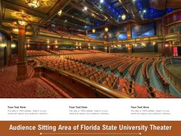 Audience Sitting Area Of Florida State University Theater