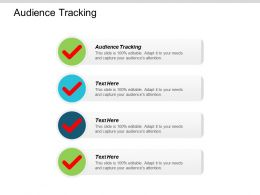 Audience Tracking Ppt Powerpoint Presentation Pictures Design Ideas Cpb