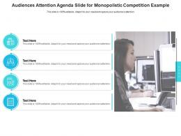 Audiences Attention Agenda Slide For Monopolistic Competition Example Infographic Template
